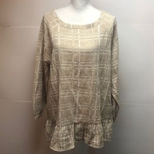 New Soft Surroundings  linen cotton tunic top